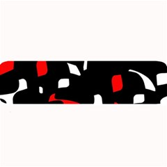 Red, Black And White Pattern Large Bar Mats by Valentinaart