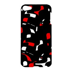 Red, Black And White Pattern Apple Ipod Touch 5 Hardshell Case by Valentinaart