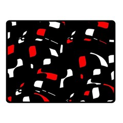 Red, Black And White Pattern Double Sided Fleece Blanket (small)  by Valentinaart