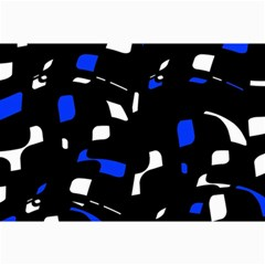 Blue, black and white  pattern Collage Prints by Valentinaart