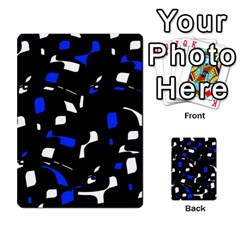 Blue, Black And White  Pattern Multi Purpose Cards (rectangle)