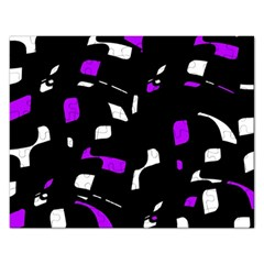 Purple, Black And White Pattern Rectangular Jigsaw Puzzl