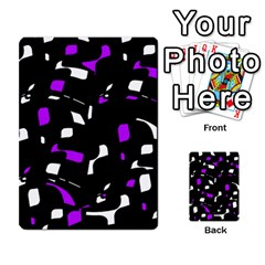 Purple, Black And White Pattern Multi Purpose Cards (rectangle)