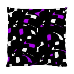 Purple, Black And White Pattern Standard Cushion Case (two Sides) by Valentinaart