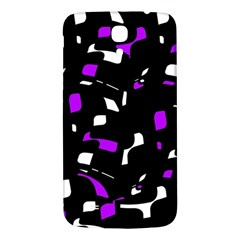 Purple, Black And White Pattern Samsung Galaxy Mega I9200 Hardshell Back Case by Valentinaart