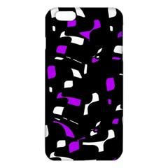 Purple, Black And White Pattern Iphone 6 Plus/6s Plus Tpu Case by Valentinaart