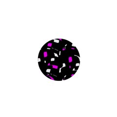 Magenta, Black And White Pattern 1  Mini Buttons by Valentinaart