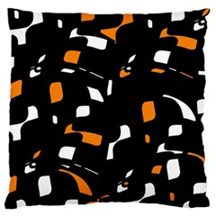 Orange, Black And White Pattern Standard Flano Cushion Case (one Side) by Valentinaart