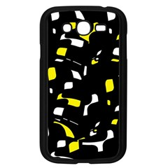 Yellow, Black And White Pattern Samsung Galaxy Grand Duos I9082 Case (black) by Valentinaart