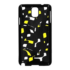 Yellow, Black And White Pattern Samsung Galaxy Note 3 Neo Hardshell Case (black) by Valentinaart