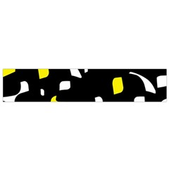 Yellow, Black And White Pattern Flano Scarf (small) by Valentinaart