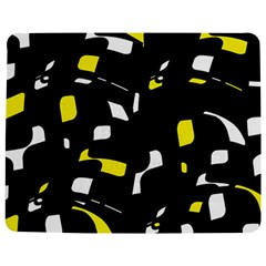 Yellow, Black And White Pattern Jigsaw Puzzle Photo Stand (rectangular) by Valentinaart