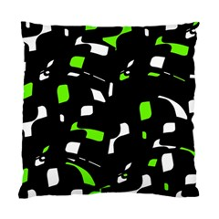 Green, Black And White Pattern Standard Cushion Case (one Side) by Valentinaart