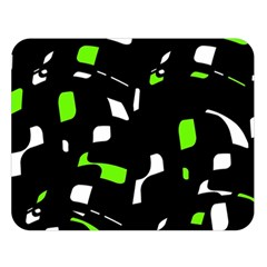 Green, Black And White Pattern Double Sided Flano Blanket (large)  by Valentinaart