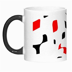 White, Red And Black Pattern Morph Mugs by Valentinaart