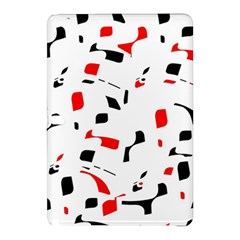 White, red and black pattern Samsung Galaxy Tab Pro 10.1 Hardshell Case by Valentinaart