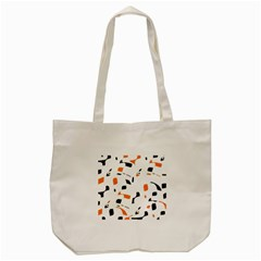 Orange, White And Black Pattern Tote Bag (cream) by Valentinaart