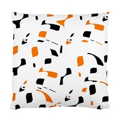 Orange, White And Black Pattern Standard Cushion Case (two Sides) by Valentinaart