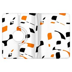Orange, white and black pattern Kindle Fire HDX Flip 360 Case