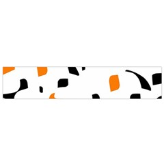 Orange, White And Black Pattern Flano Scarf (small)