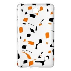 Orange, White And Black Pattern Samsung Galaxy Tab 4 (8 ) Hardshell Case