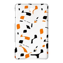 Orange, White And Black Pattern Samsung Galaxy Tab S (8 4 ) Hardshell Case  by Valentinaart