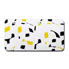 Yellow, Black And White Pattern Medium Bar Mats by Valentinaart