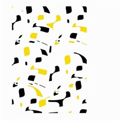Yellow, black and white pattern Large Garden Flag (Two Sides) by Valentinaart