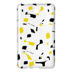 Yellow, Black And White Pattern Samsung Galaxy Tab 4 (7 ) Hardshell Case  by Valentinaart
