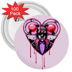 Bdsm Love 3  Buttons (100 Pack)  by lvbart
