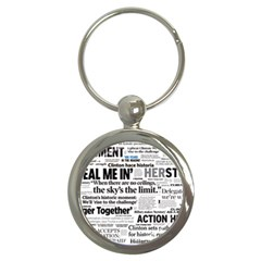 Hillary 2016 Historic Headlines Key Chains (round)  by blueamerica