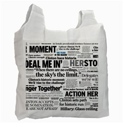 Hillary 2016 Historic Headlines Recycle Bag (one Side) by blueamerica