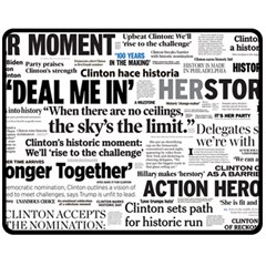 Hillary 2016 Historic Headlines Fleece Blanket (medium)  by blueamerica