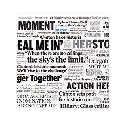 Hillary 2016 Historic Headlines Small Satin Scarf (square) by blueamerica