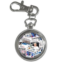Hillary 2016 Historic Newspaper Collage Key Chain Watches by blueamerica