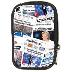 Hillary 2016 Historic Newspaper Collage Compact Camera Cases by blueamerica