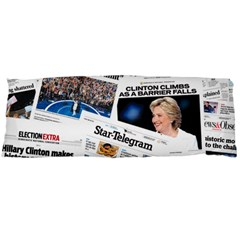 Hillary 2016 Historic Newspaper Collage Body Pillow Case Dakimakura (two Sides) by blueamerica