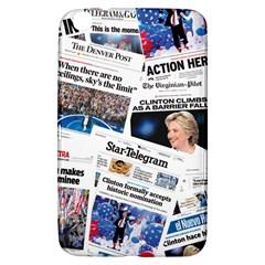 Hillary 2016 Historic Newspaper Collage Samsung Galaxy Tab 3 (8 ) T3100 Hardshell Case  by blueamerica