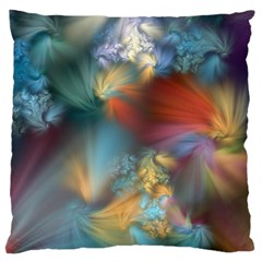 More Evidence Of Angels Large Flano Cushion Case (two Sides) by WolfepawFractals