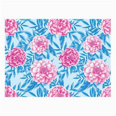 Blue & Pink Floral Collage Prints by TanyaDraws