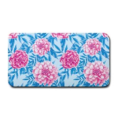Blue & Pink Floral Medium Bar Mats by TanyaDraws