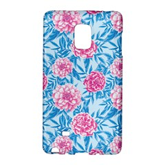 Blue & Pink Floral Galaxy Note Edge by TanyaDraws