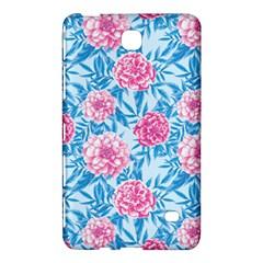Blue & Pink Floral Samsung Galaxy Tab 4 (7 ) Hardshell Case  by TanyaDraws