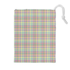 Checked Drawstring Pouches (extra Large) by skyblue