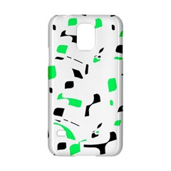 Green, Black And White Pattern Samsung Galaxy S5 Hardshell Case  by Valentinaart