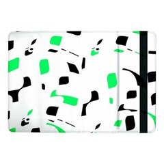 Green, Black And White Pattern Samsung Galaxy Tab Pro 10 1  Flip Case by Valentinaart