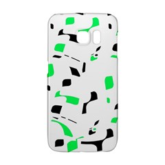 Green, Black And White Pattern Galaxy S6 Edge by Valentinaart