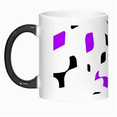 Purple, Black And White Pattern Morph Mugs by Valentinaart