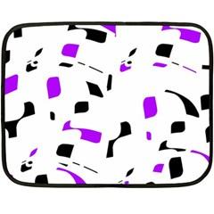 Purple, Black And White Pattern Double Sided Fleece Blanket (mini)  by Valentinaart