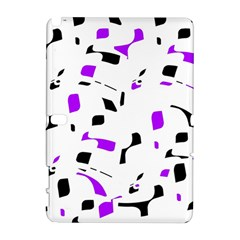 Purple, Black And White Pattern Samsung Galaxy Note 10 1 (p600) Hardshell Case by Valentinaart